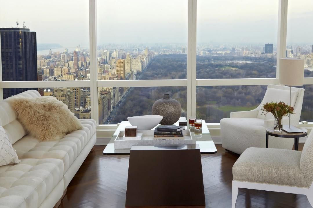 Daniel Craig NYC Penthouse Living Room Jarret Yoshida