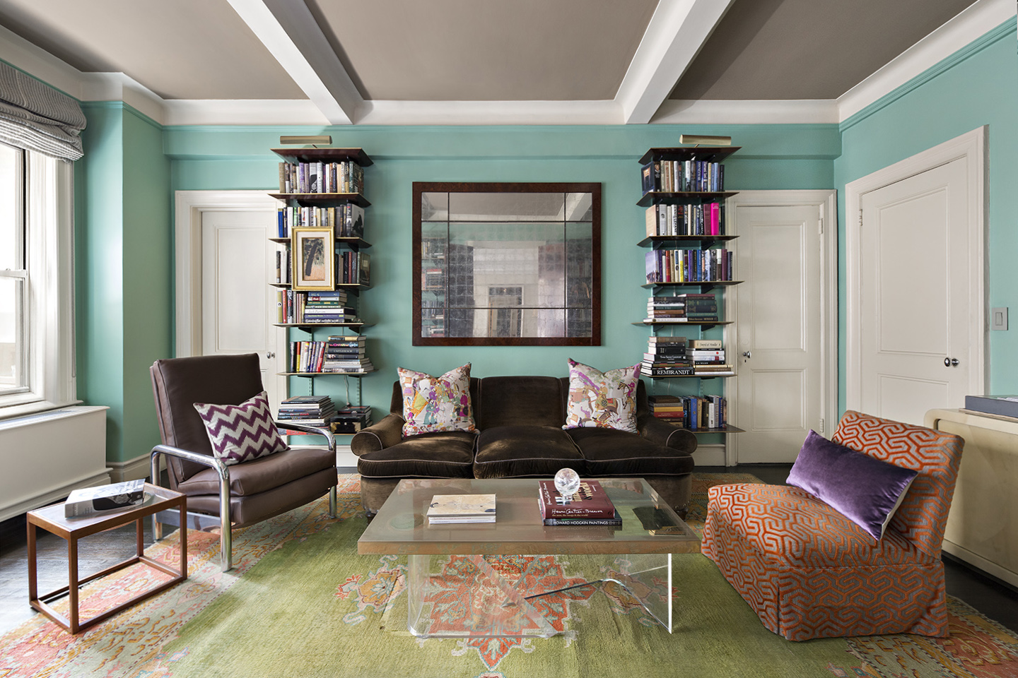 NYC Park Ave Penthouse-LIBRARY-W