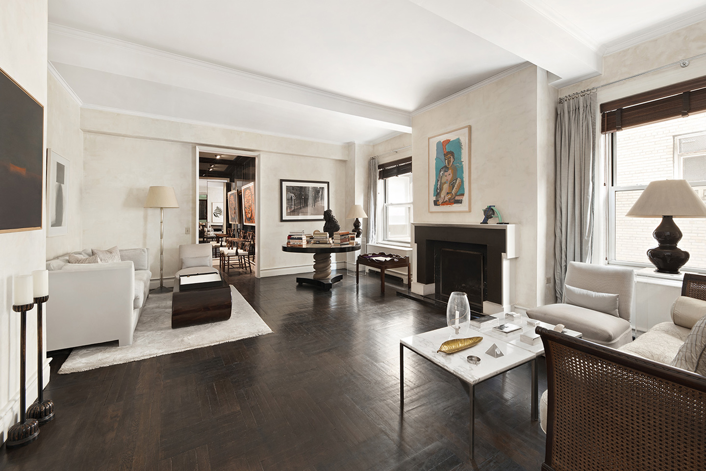 NYC Park Ave Penthouse-Living Room
