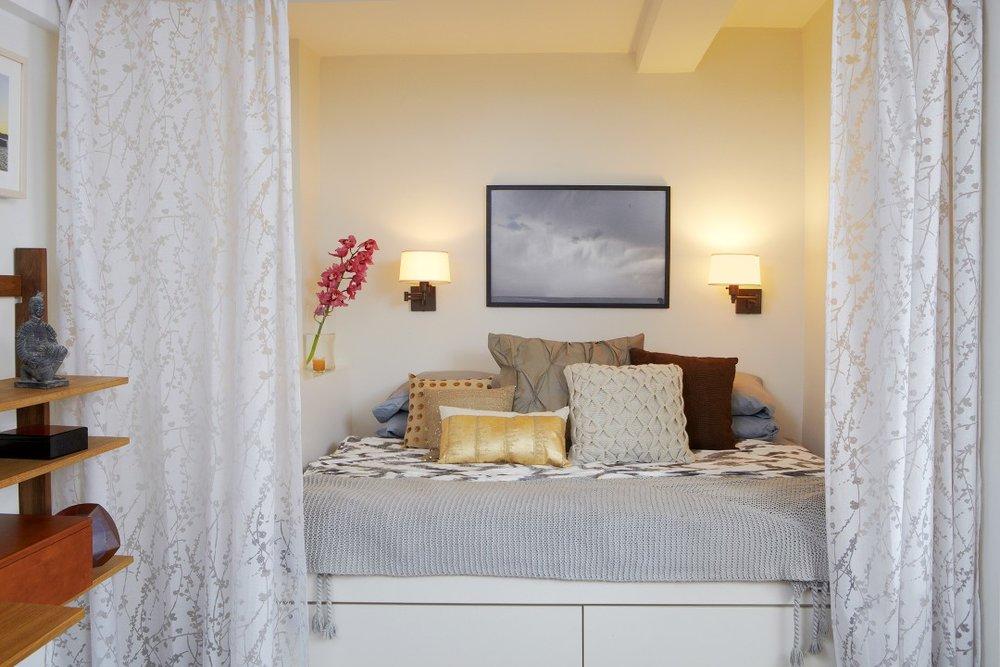 NYC Studio Bedroom